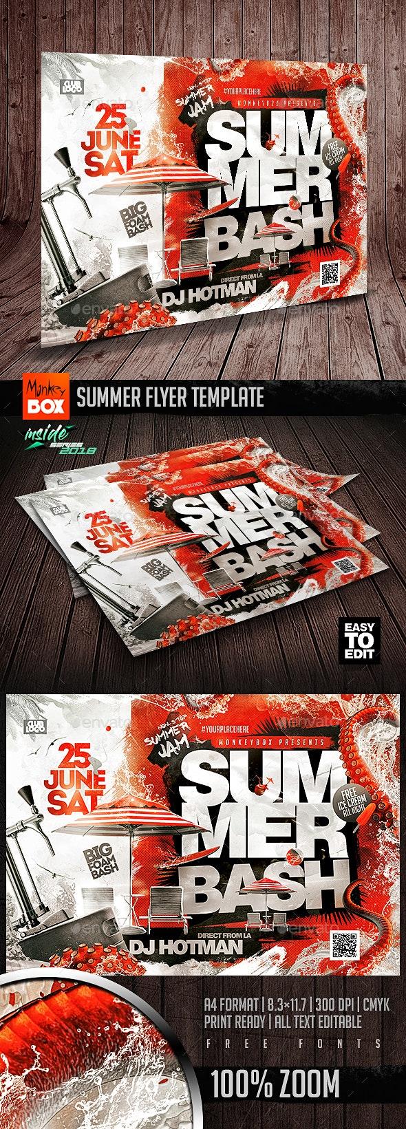 Summer Flyer Template - Flyers Print Templates