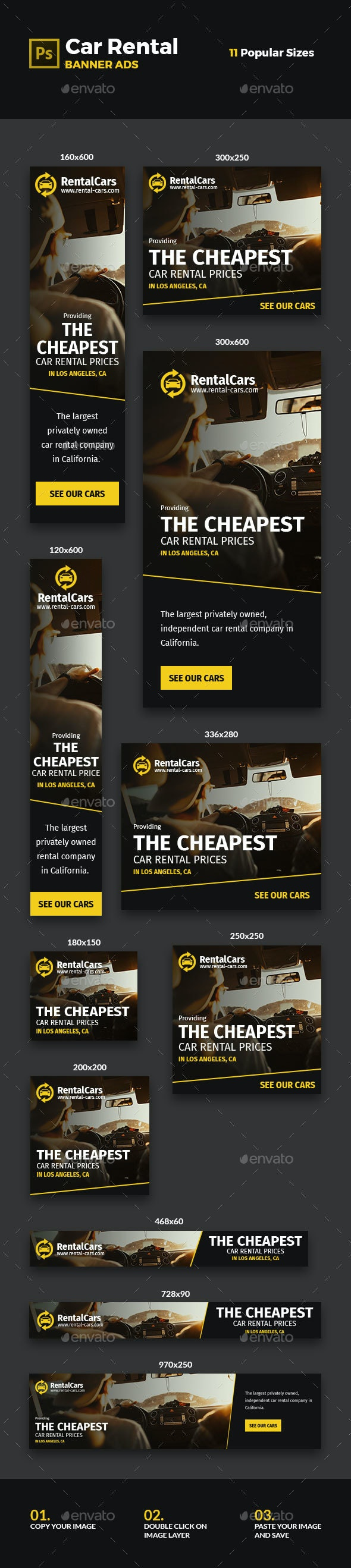 Car Rental Banners #2 - Banners & Ads Web Elements