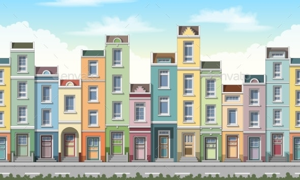 Small Houses Seamless - Buildings Objects