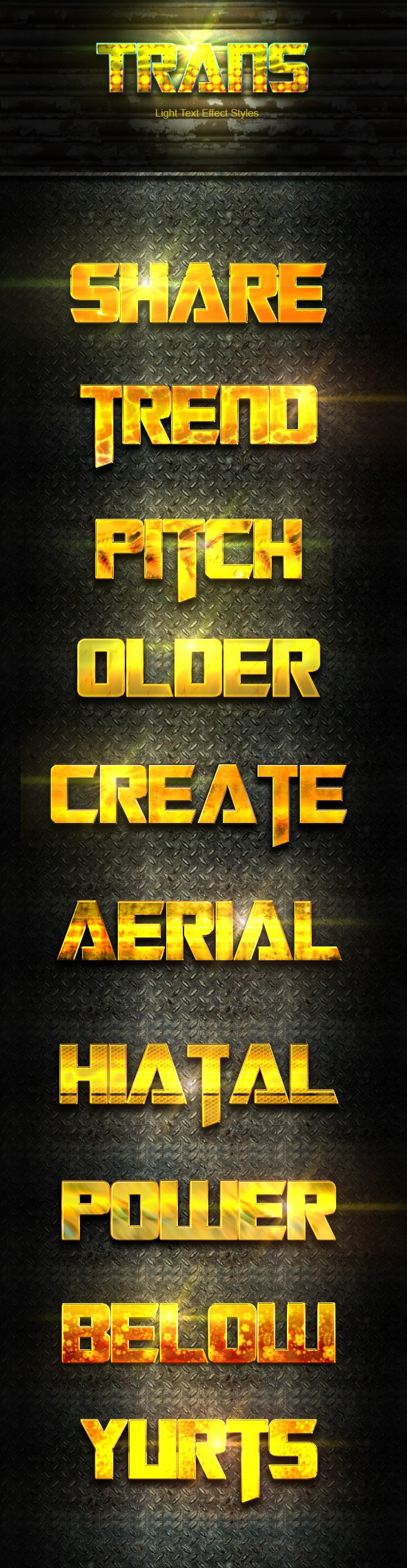 10 Photoshop GOLD Text Effect Styles Vol 4 - Text Effects Styles