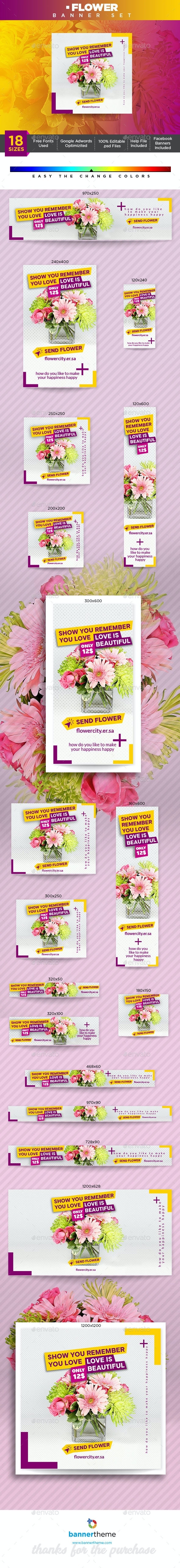 Flower Banner - Banners & Ads Web Elements