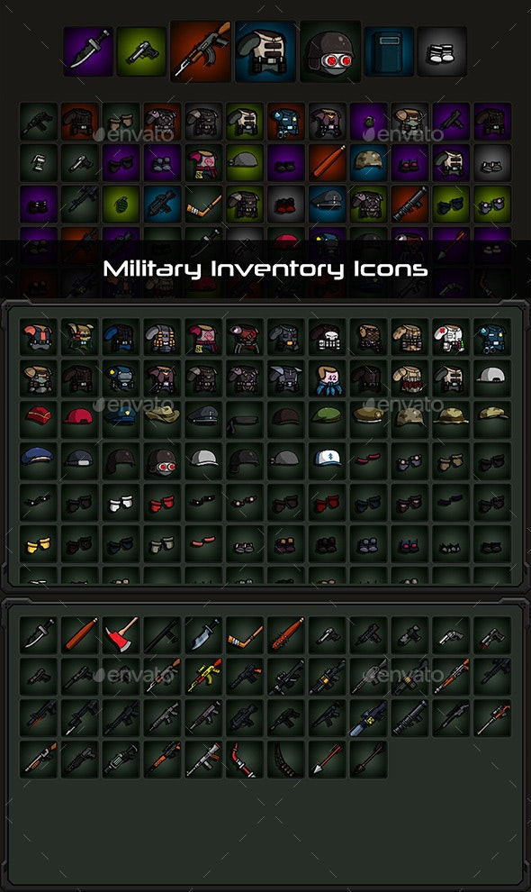 Military Inventory Icons - Miscellaneous Game Assets