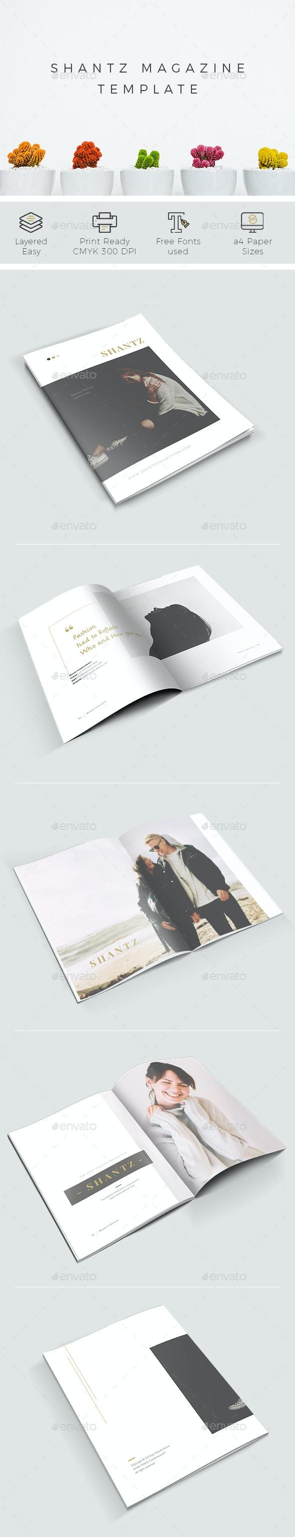 Shantz Lookbook Magazines - Print Templates