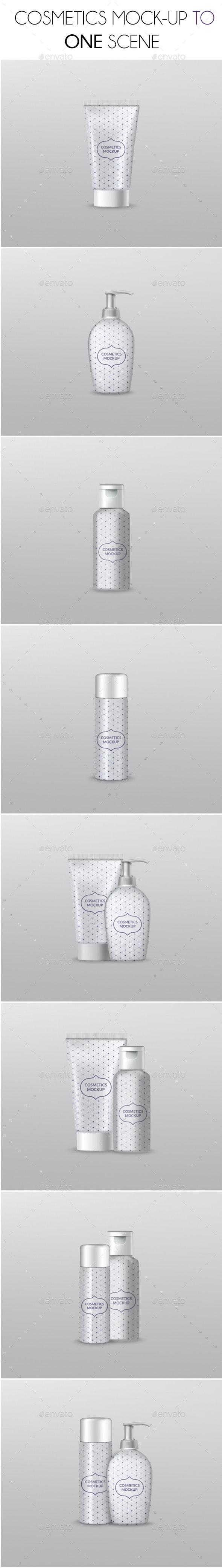 Cosmetics Mockup - Product Mock-Ups Graphics