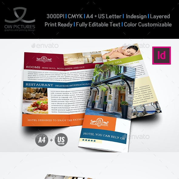 Hotel and Motel Tri-Fold Brochure Template Vol.2