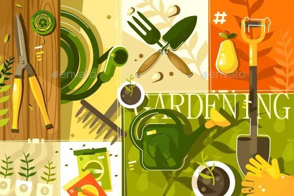 Gardening Abstract Background - Miscellaneous Vectors