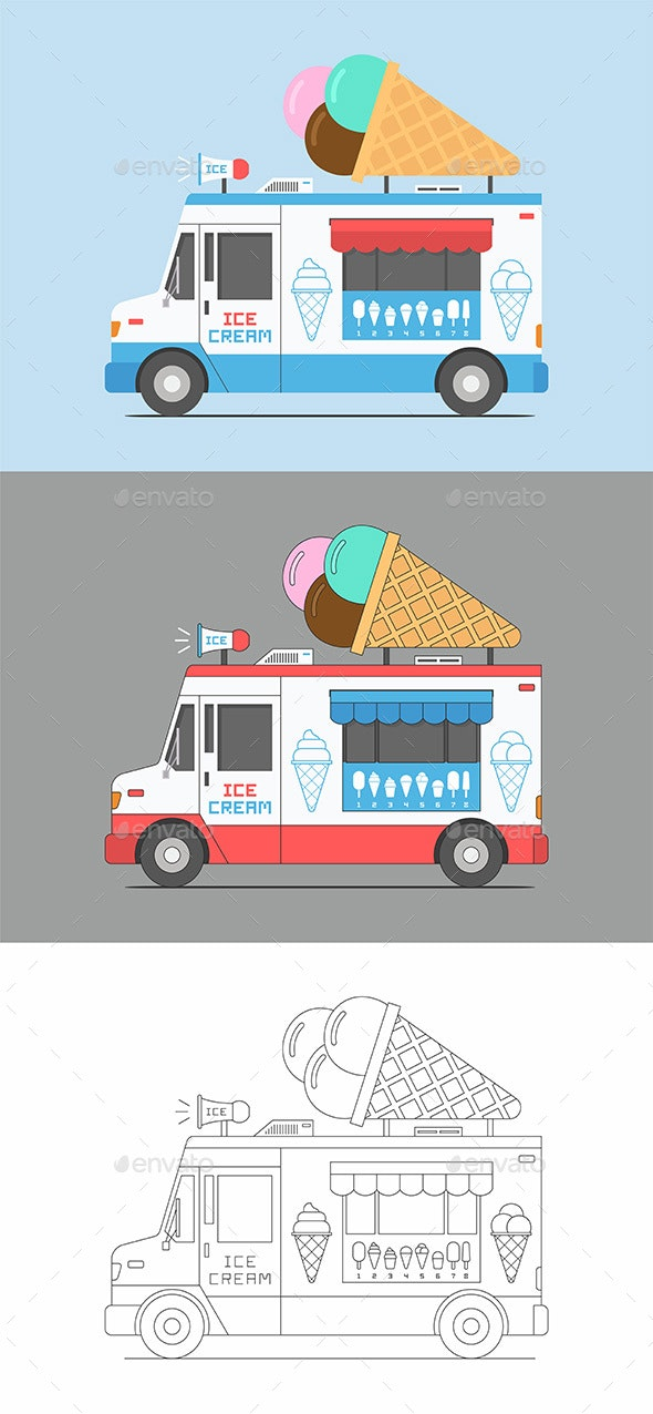 Ice Cream Truck - Food Objects