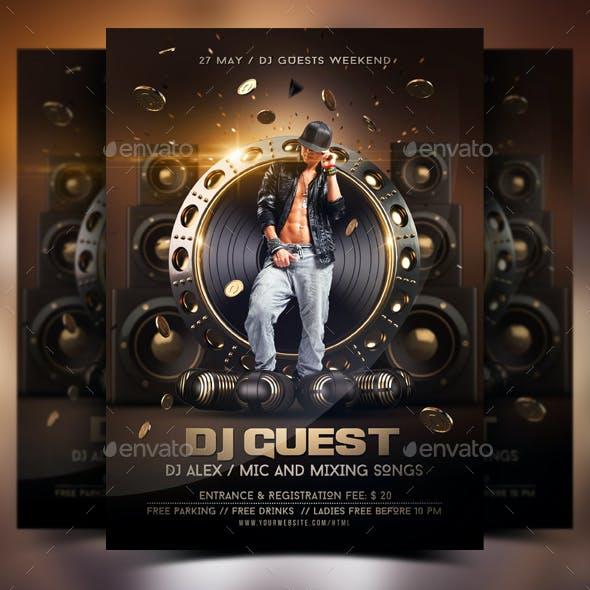 DJ Guest Flyer
