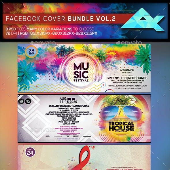 Colorful Facebook Cover Bundle Vol 2