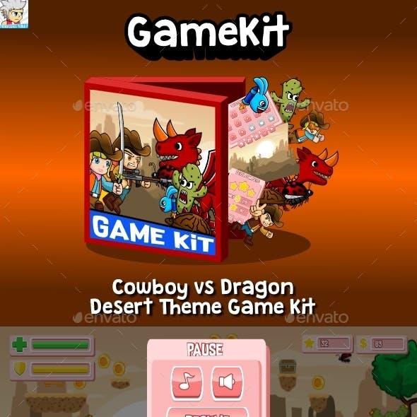 Cowboy vs Dragon Desert Theme Gamekit