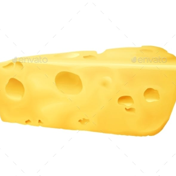 Cheese Realistic Vector Illustration