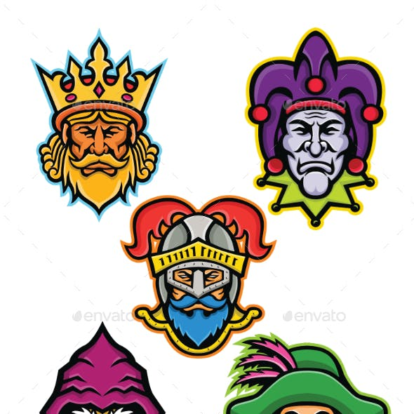 Medieval Royal Court Mascot Collection