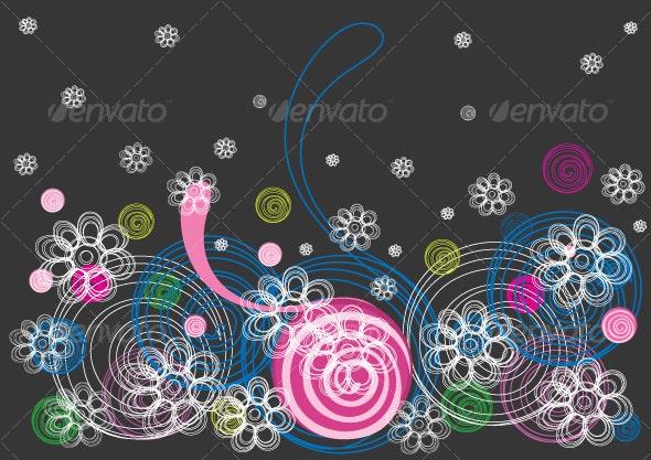 Floral background design - Backgrounds Decorative