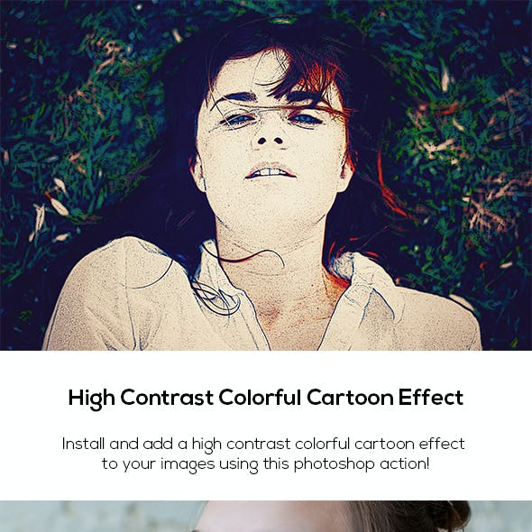 High Contrast Colorful Cartoon Effect