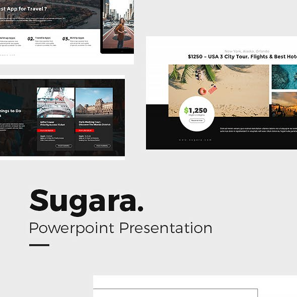 Sugara Travel Guides Powerpoint Template by punkl