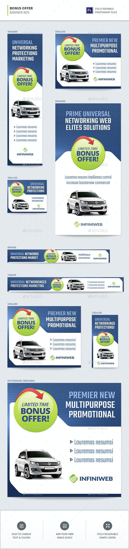 Bonus Offer Banners - Banners & Ads Web Elements