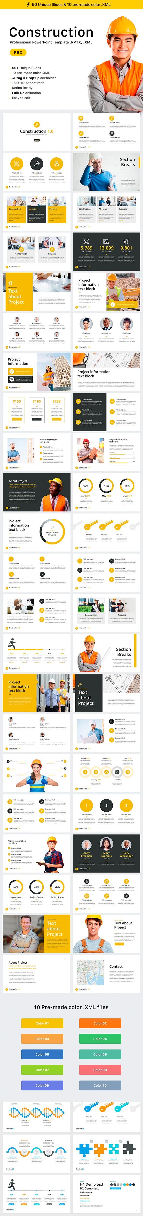Construction - PowerPoint Templates Presentation Templates