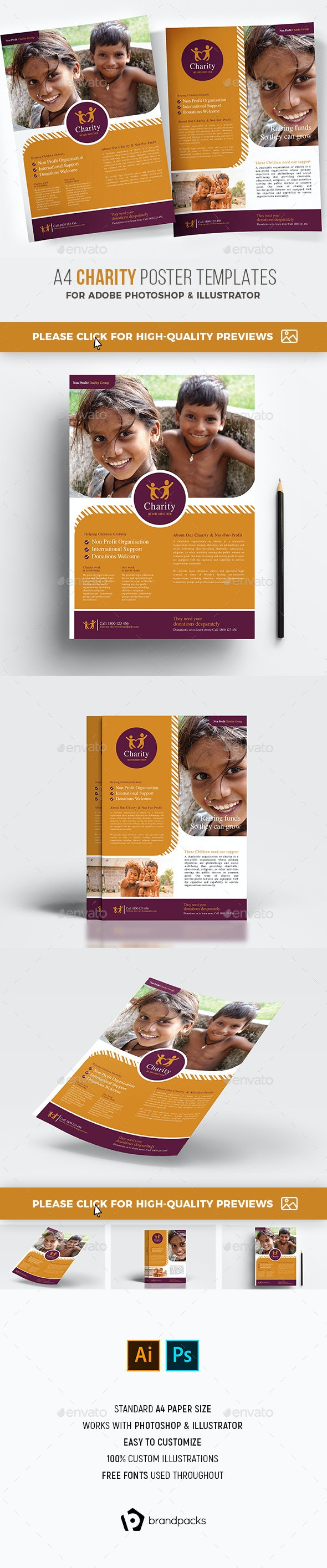 Charity Poster Templates - Church Flyers