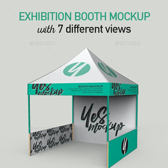 Exhibition Booth Mock up with 7 PSD Files