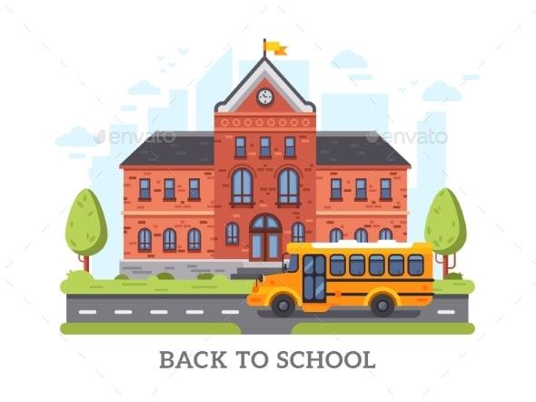 Academy, College, University Education Building - Miscellaneous Vectors
