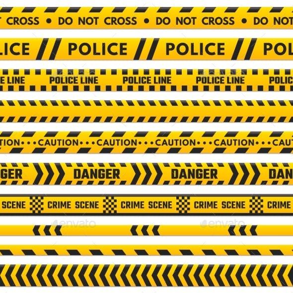 Police Black and Yellow Line Do Not Cross