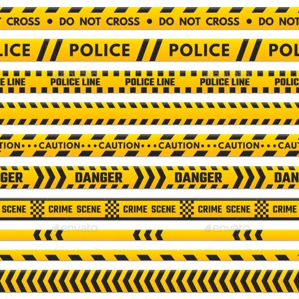 Police Black and Yellow Line Do Not Cross - Industries Business