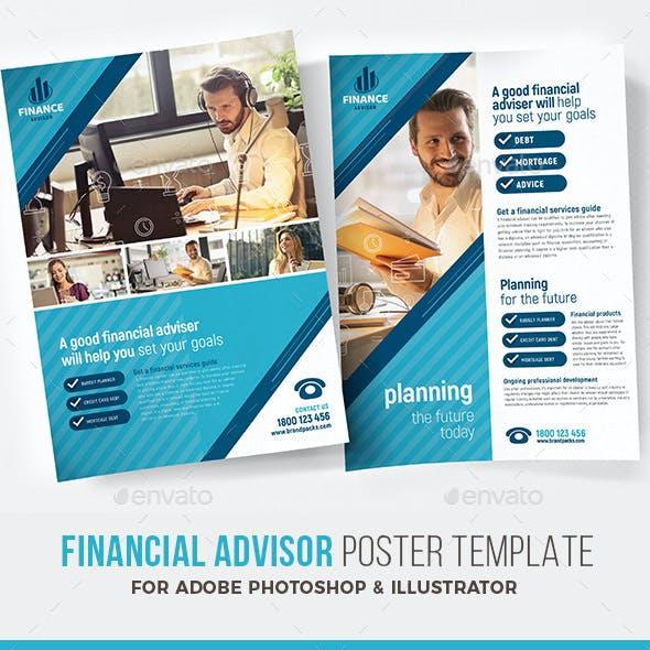 Financial Advisor Poster Templates