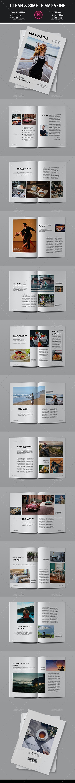 Clean & Simple Magazine - Magazines Print Templates