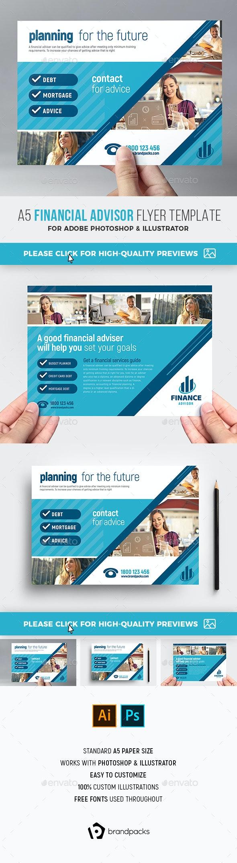 Financial Advisor Flyer Template - Corporate Flyers