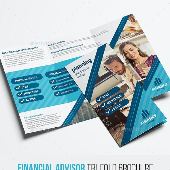 Financial Advisor Trifold Brochure Template