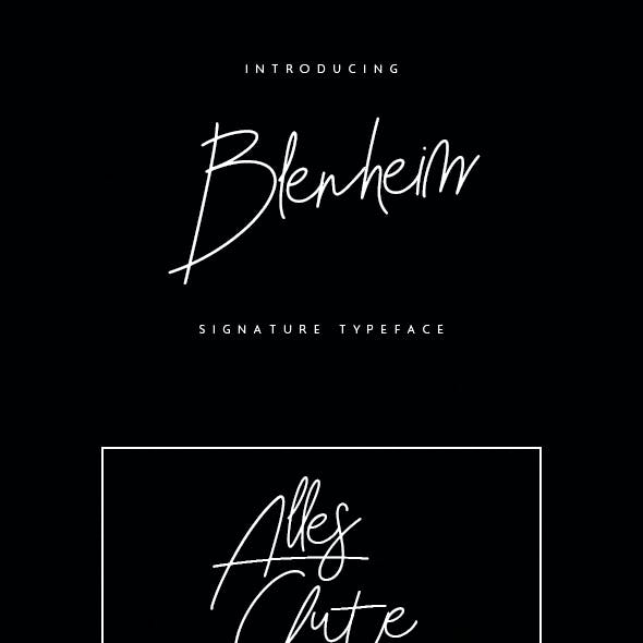 Blenheim - Signature Font