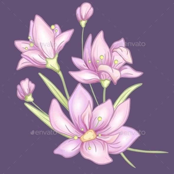 Flower Branch Violet - Flowers & Plants Nature