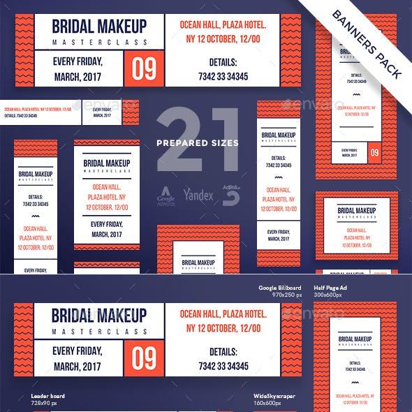 Bridal Makeup Masterclass Banner Pack