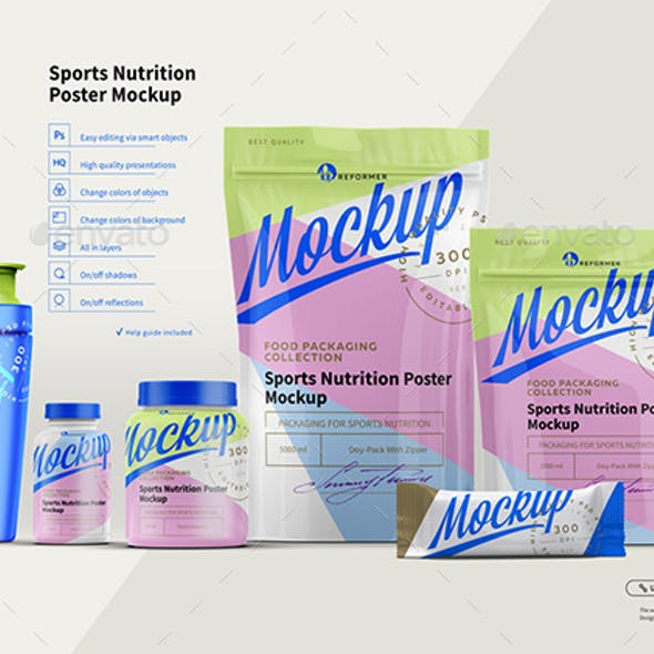 Sports Nutrition Poster Mock-Up