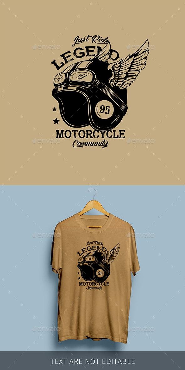 Motorcycle Club Helmet Illustration - Decorative Symbols Decorative
