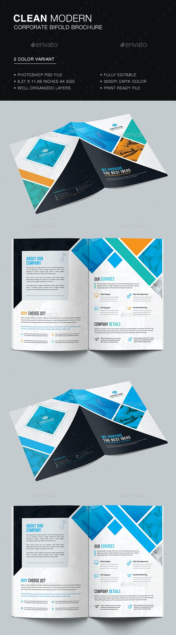 Bifold Business Brochure - Brochures Print Templates