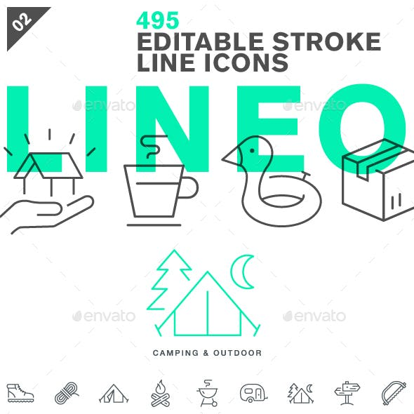 Lineo - Pack 2 - 495 Icons