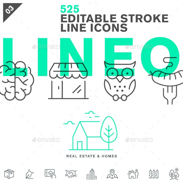 Lineo - Pack 3 - 525 Icons