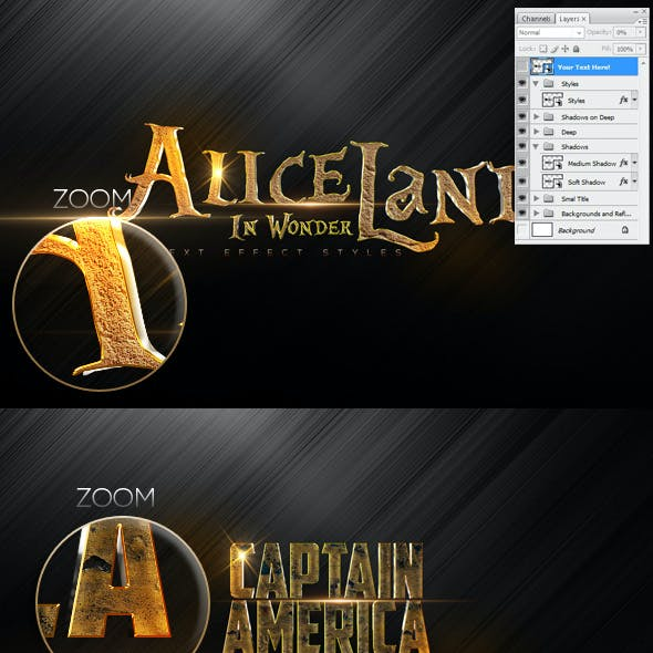 10 New Text Styles A23