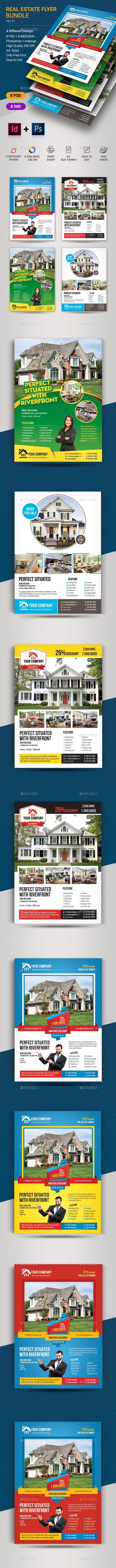 Real Estate Flyer Bundle - Corporate Business Cards
