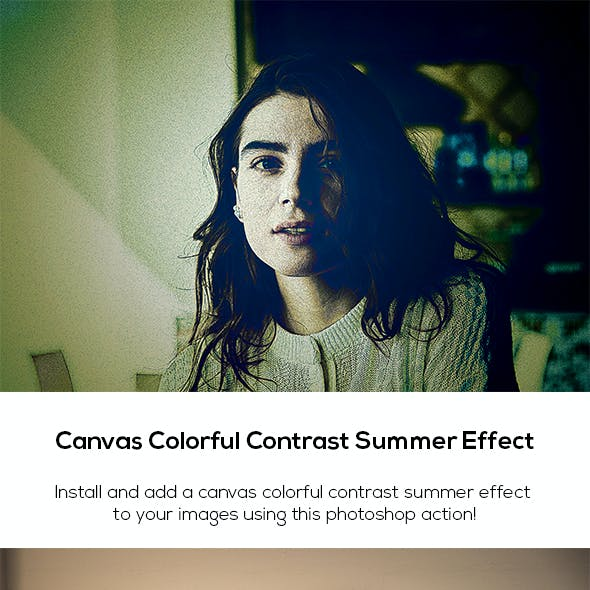 Canvas Colorful Contrast Summer Effect