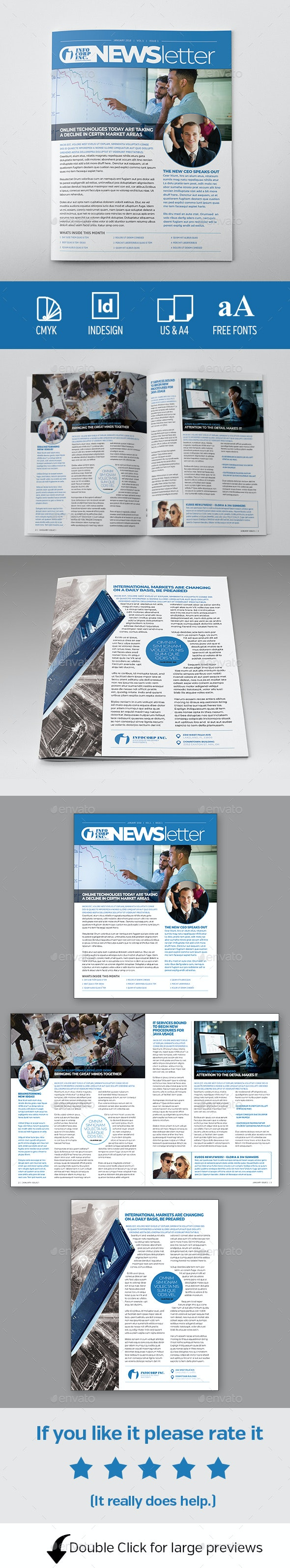4pg Newsletter Template - Newsletters Print Templates