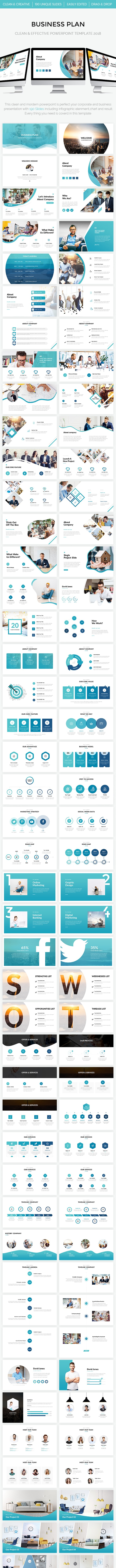 Business Plan - Clean & Effective Powerpoint Template 2018 - Business PowerPoint Templates