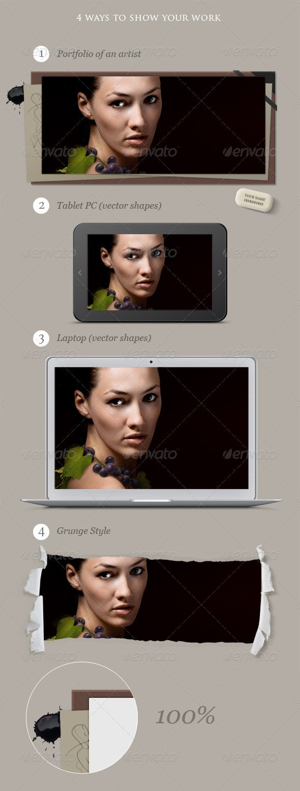 Laptop, Tablet pc and Other Mock-ups - Multiple Displays