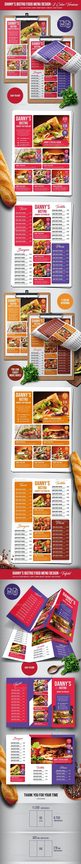 Danny's Bistro Menu Bundle - Single Page & Trifold - A4 & US Letter - Food Menus Print Templates