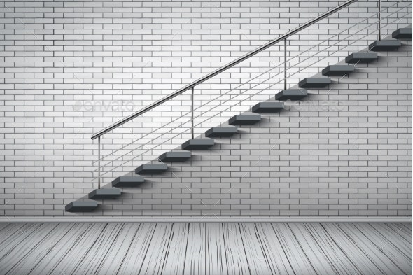 Red Brick Wall Loft Interior - Sports/Activity Conceptual