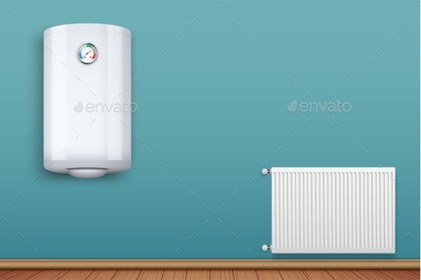 Heating Radiator and Boiler in Room - Industries Business