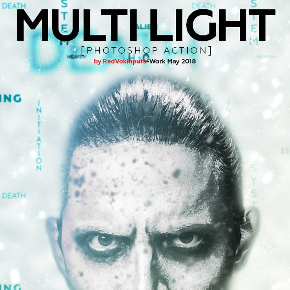 Multi Light Photoshop Action