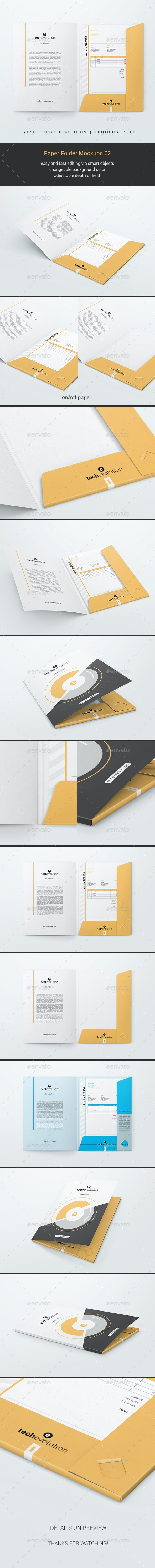 Paper Folder Mockups 02 - Miscellaneous Print