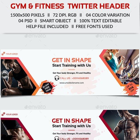 Gym & Fitness Twitter Header